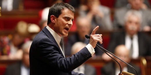 French Prime Minister Manuel Valls delivers a general policy speech at the National Assembly in Paris