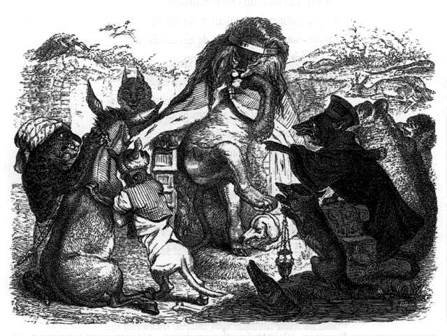 _illustrations_fables_de_la_Fontaine_par_Grandville_-_les_animaux_malades_de_la_peste